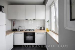 покрасить кухню в белый цвет