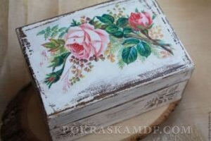 чем покрасить деревянную шкатулку