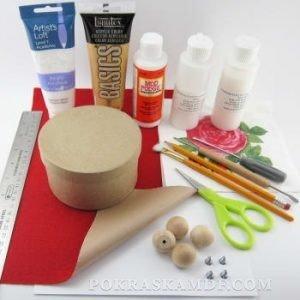 как покрасить шкатулку из дерева