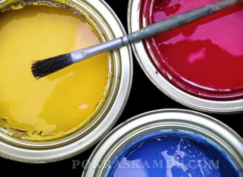 Широкий ассортимент цвета красок