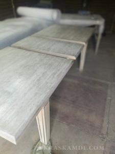 Реставрация и покраска стола из дуба