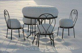 как хранить мебель зимой на улице